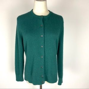 Lands End Cashmere Cardigan Size M